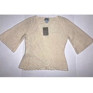 NWT Anthropologie Tabitha Knit Bell Sleeves Wrap M